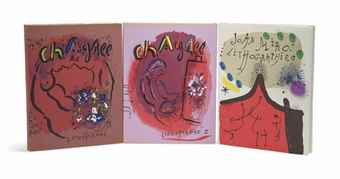 Marc Chagall-(i), (ii) Chagall Lithographe vols, Andre Sauret, Monte Carlo; (iii) Contes de Boccace, Verve vol. VI, no. 24 Verve, Paris, 1950; (iv) Joan Miro Lithographies, vol I, Maeght, Paris; (v) Braque Lithographe,  Andre Sauret, Monte Carlo, 1963-1963