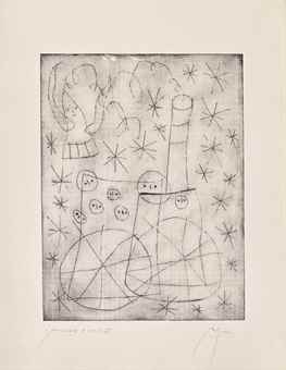 Joan Miro-Two plates, from Noel au Chemin de Fer-1959