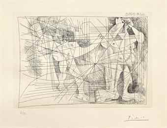Pablo Picasso-Couple, from La Magie Quotidienne-1968