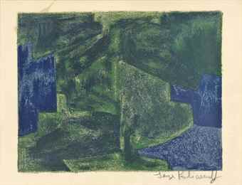 Serge Poliakoff-Composition in blue and green-1963