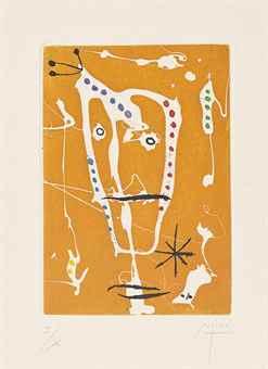 Joan Miro-Untitled, from Les Brisants-1958