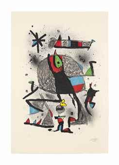 Joan Miro-Paysanne aux Oiseaux-1981