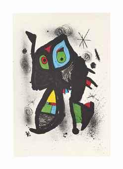 Joan Miro-Paysanne ecoutant la Mer-1981