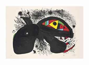 Joan Miro-Paysanne en colere-1981