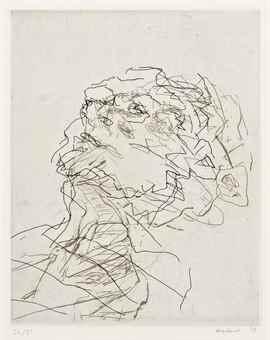 Frank Auerbach-Julia Sleeping-1998