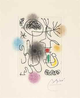 Joan Miro-Midi le Trefle Blanc-1968