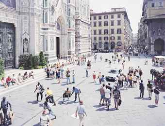 Massimo Vitali-Firenze Via Via, from A Portfolio of Landscapes and Figures-2006