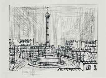 Bernard Buffet-La Place de la Bastille-1970