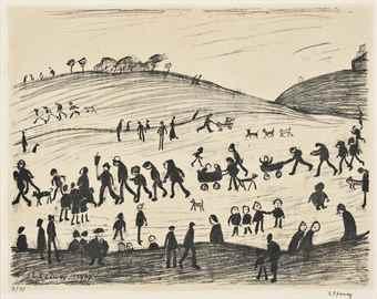 Laurence Stephen Lowry-A hillside-1967