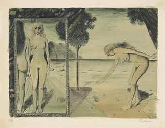 Paul Delvaux-La plage-1972