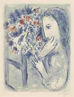 Marc Chagall-Femme pres de la Fenetre-1964