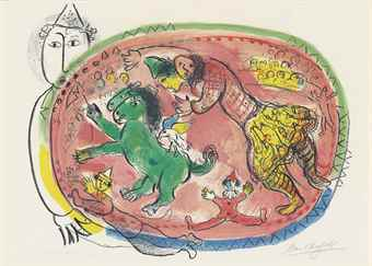 Marc Chagall-Le Cercle Rouge-1966