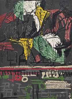 Henry Moore-Three Seated Figures-1943