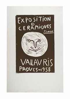 Exposition de ceramiques Vallauris Paques-1958-1958