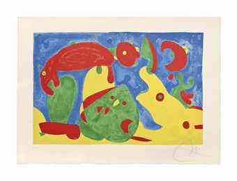 Joan Miro-One plate, from Ubu roi-1966