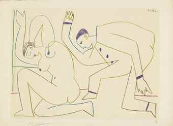Pablo Picasso-After Pablo Picasso - One plate, from Verve Nos. 29-30-1954
