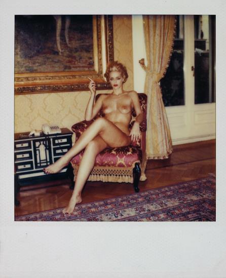 Helmut Newton-Untitled (Seated Nude)-