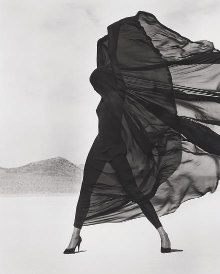 Herb Ritts-Versace, Veiled Dress, El Mirage-1990