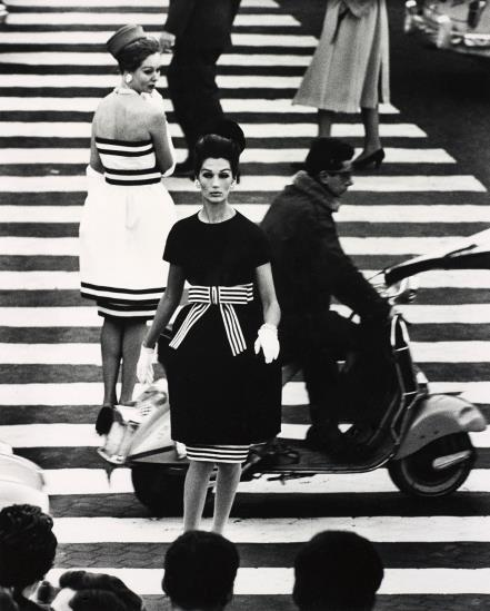 William Klein-Simone + Nina, Piazza Di Spagna, Rome (Vogue)-1960