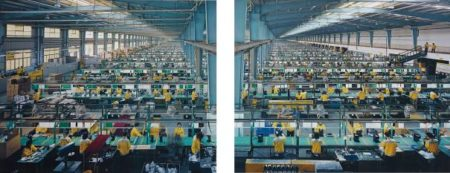 Edward Burtynsky-Manufacturing #10A & #10B, Cankun Factory, Xiamen City, China-2005