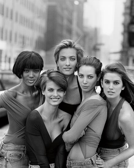 Peter Lindbergh-Naomi Campbell, Linda Evangelista, Tatjana Patitz, Christy Turlington And Cindy Crawford, New York-1989