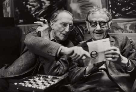 Henri Cartier-Bresson-Marcel Duchamp And Man Ray, Paris-1968