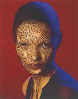 Albert Watson-Kate Moss in Torn Veil, Marrakech-1993