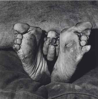 Roger Ballen-Puppy Between Feet-1999