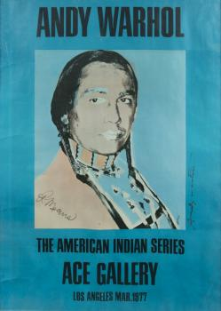 Andy Warhol-Ace Gallery Los Angeles, American Indian Series-1977