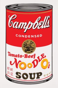 After Andy Warhol - Sunday B - Tomato Beef Noodle O's From Campbell Soup II (F & S 11.61)-