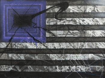 Saber-Black And White Purple Flag-2010