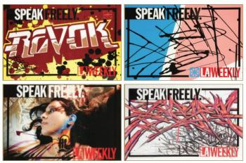 Revok-Retna-Saber-Push-7Th Letter La Weekly Newspaper Street Box Inserts Including Retna, Saber And Revok-2006