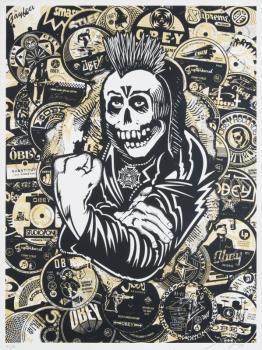 Shepard Fairey-Psycho Posse Gold-2006