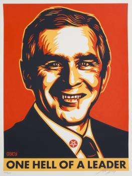 Shepard Fairey-Hell Of A Leader-2007