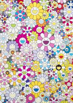 Takashi Murakami-Homage To Yves Klein (Multicolor B)-2012