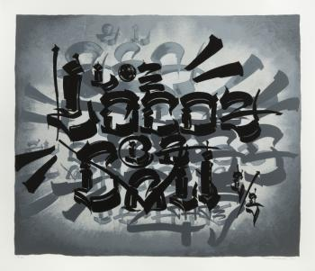 Chaz Bojorquez-Tres Placas (Grey)-2011