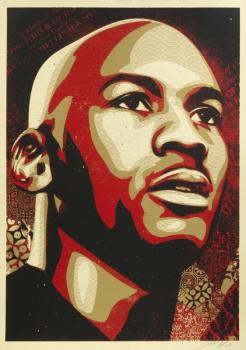 Shepard Fairey-Michael Jordan Portrait-2009