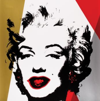 After Andy Warhol - Sunday B - Golden Marilyn-