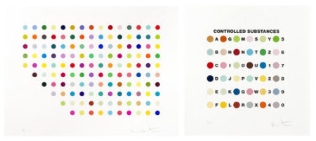 Damien Hirst-Meprobamate plus Controlled Substances Key Spot Set-2012