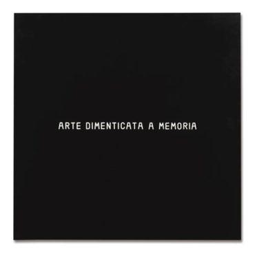 Vincenzo Agnetti-Arte Dimenticata A Memoria-1972