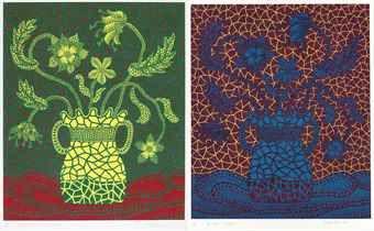 Yayoi Kusama-Flower (4); & Flower (5)-1999