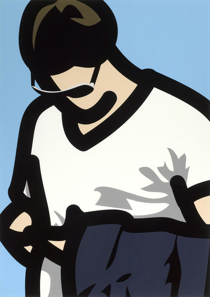 Julian Opie-Tourist with Phone, from Tourists-2014