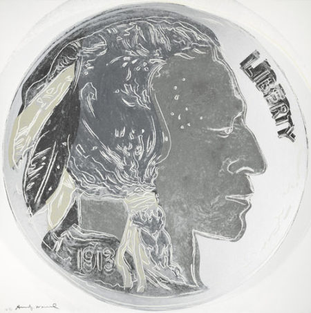 Andy Warhol-Indian Head Nickel, from Cowboys and Indians-1986