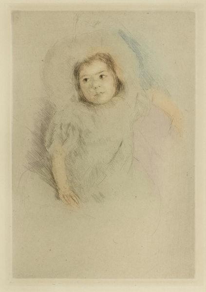 Mary Cassatt-Margot Wearing a Bonnet (No. 1)-1902