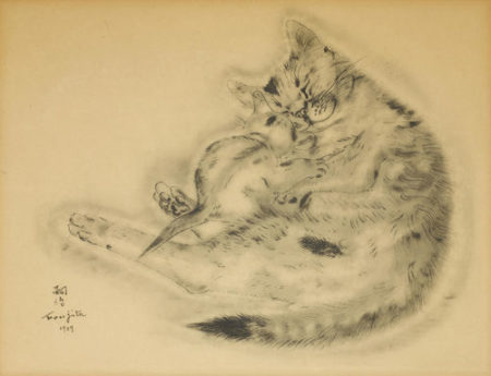 Tsuguharu Foujita-3 Plates, from Book of Cats-1929