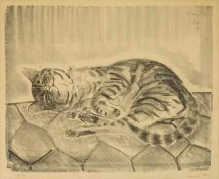 Tsuguharu Foujita-Chat-1927