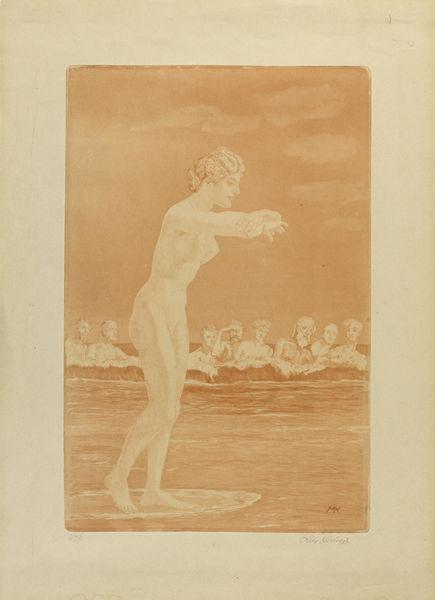 Max Klinger-Intermezzi (portfolio); Venus Anadyomene (Meereszug)-1915