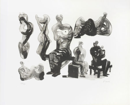 Henry Moore-Ideas for Sculptures-1975