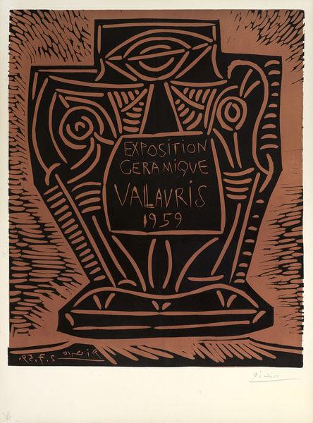 Pablo Picasso-Exposition Ceramique Vallauris-1959