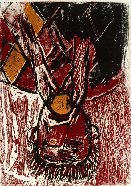 Georg Baselitz-Orangenesser (Orange Eater)-1981